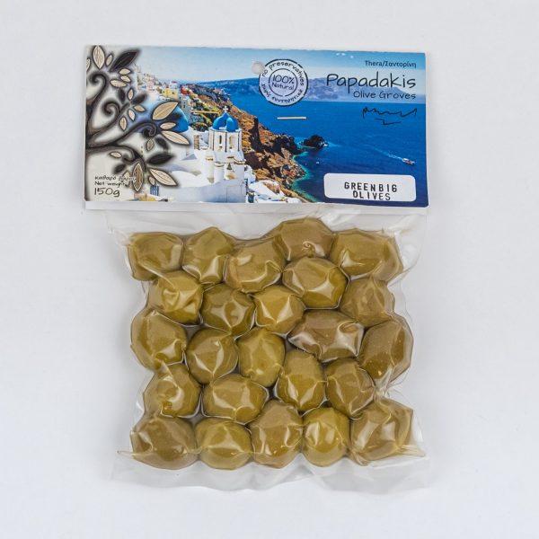 Suured rohelised oliivid 150g